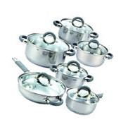 Cook N Home 02410 12 Piece Stainless Steel Cookware Set,