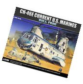 "Academy 1/48 CH-46E Current US Marine ""Bull Frog"" Model Kit"