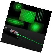 6 in 1 5mw Green Laser Pointer Star CAP Projector Pen Lazer