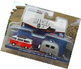 1:64 GreenLight *HITCH & TOW* Red 1974 Volkswagen VW Bus w/