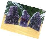 1 Amethyst Cluster Geode Crystal Quartz Cut Base Amethyst
