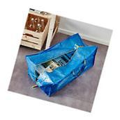 NEW IKEA 1 X LARGE BLUE FRAKTA ZIPPERED TOTE STORAGE LAUNDRY