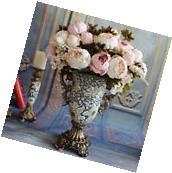 1 Bouquet Fake Artificial Peony Silk Flower Wedding Home