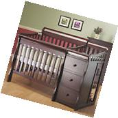 2 in 1 Convertible Mini Crib & Changer Nursery Furniture