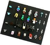1 Lego Minecraft minifigure + Gift of 15 NEW generic mini