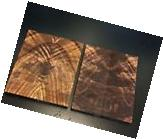 1) Small Pair Bookmatched Nice Figured Burl Black Walnut