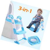 3 in 1 Kids Potty Training Seat with Step Stool Ladder for