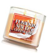 1 Bath Body Works PUMPKIN SPICED CHEESECAKE Large Scented 3-