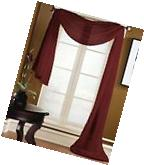 1 SCARF VALANCE SHEER FABRIC ELEGANT WINDOW CURTAIN DRAPE 35