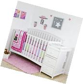 5 in 1 Side Convertible Crib Changer Nursery Furniture Baby