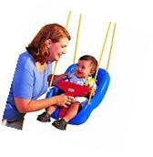 Little Tikes 2-in-1 Snug 'n Secure Swing Blue Frustration-