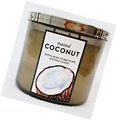 1 Bath Body Works TOASTED COCONUT Large Scented 3-Wick