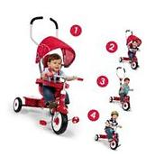 Radio Flyer 4-in-1 Trike Red Tricycle Kids Toy 3 Wheel Pedal