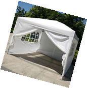 10'x10'EZ Pop UP Wedding Party Tent Folding Gazebo Canopy W