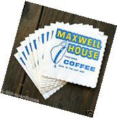 10 Vintage Original MAXWELL HOUSE COFFEE Scalloped