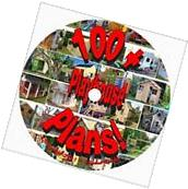 100 + Childrens Playhouse Plans CD Outdoor Accessories Fun