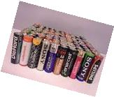 100 MIXED AA ALKALINE BATTERIES 1.5V LRS SONY PHILLIPS