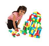 Melissa&Doug 100 Blocks Wooden Building Blocks,Developmental