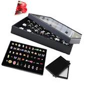 100 Ring Jewellery Display Show Case Storage Box Tray