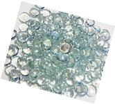 1000 CLEAR GLASS GEMS MOSAIC PEBBLES, FLAT BOTTOM MARBLES,