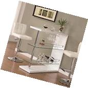 Coaster 100167 Bar Unit With 2 Glass Shelves And Wine Holder