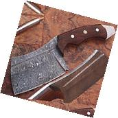 1095 Damascus Steel Butchers Knife Cutlery Kitchen Chopping