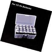 12×9v Batteries Clear Transparent Battery Storage Box Case