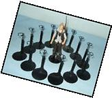 "12 Action Figure DISPLAY STANDS fit 5.5 Walking Dead 6"" STAR"
