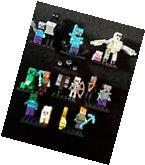 *SALE* 15 NEW generic minifigure & tool lot + 5 lego minecraft blocks