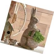 "NEW!~RAZ Imports~16"" Standing Resin Rabbit w/ Basket~Spring/"