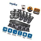 SANNCE Full 1080P 16CH AHD DVR 2000TVL IR-CUT Camera Home