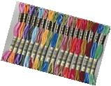 18 skeins DMC Cotton Embroidery Floss Thread variegated