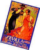 1928 Feria de Sevilla Fair of Seville Spain Vintage Travel