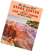 1930s Grand Canyon, Zion Parks Bryce Canyon Vintage Travel