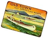 1937 Old Town Canoes and  Boats Vintage Reproduction Metal