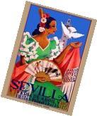 1952 Feria de Sevilla Fair of Seville Spain Vintage Travel