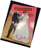 1998 Bride & Groom Paper Dolls Intact In Book With Clothing