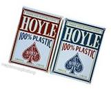 2 Decks Hoyle 100% Plastic Standard Poker Playing Cards Red