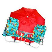 2 Green Tommy Bahama Backpack Cooler Beach Chairs Plus + 7'