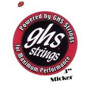 2 ghs Guitar String Stickers New Red Black Logo