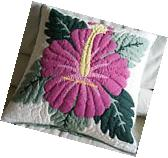 2 Hawaiian quilt handmade cushions hand quilted/applique