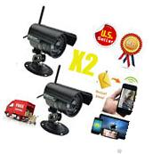 2× HD Home Security IP Camera Wifi Wireless System Internet Outdoor US STOCK VIP