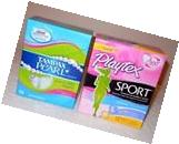 2 Brand New Boxes of Tampax Pearl & Playtex Sport Tampons