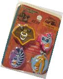 "Madagascar 2  Rubber Rings ""Gloria,Alex,Marty,Melman"" Set of"