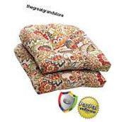 2 Seat Cushions Pillow Outdoor Patio Furniture Porch Dinning