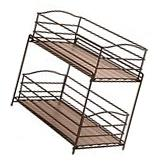2 Tier Sliding Stand Rack Basket Kitchen Cabinet Organizer