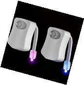 2 Toilet Night Lights 8 Color LED Motion Activated Sensor