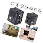 2* USB Universal AC Wall Power Outlet Converter Travel