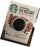 2 Boxes Starbucks Via Instant Coffee Columbia 26 Count Each