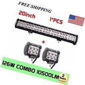 20'' 126W Cree LED Work Light Bar Offroad Boat Lamp Spot